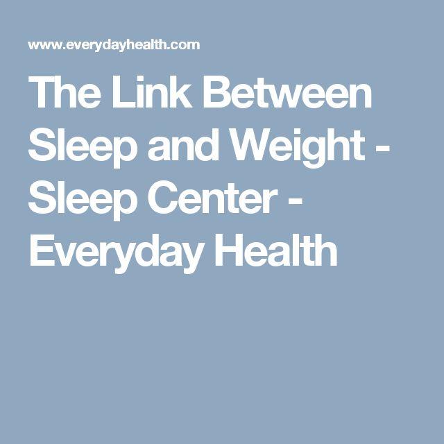 The Link Between Sleep and Weight - Sleep Center - Everyday Health