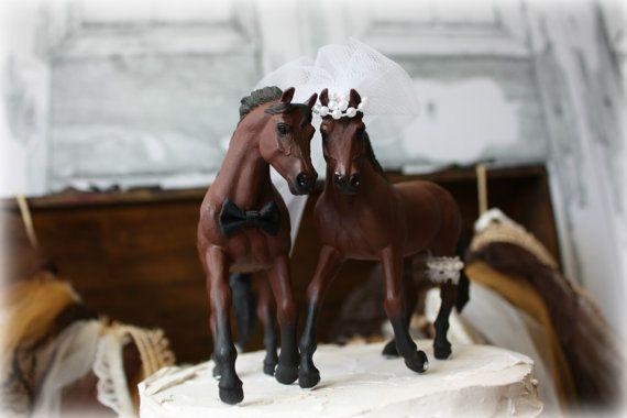 Horse Wedding Cake Topper-Western Cake Topper-Country Western Cake Topper-Cowboy Cake topper on Etsy, $44.00