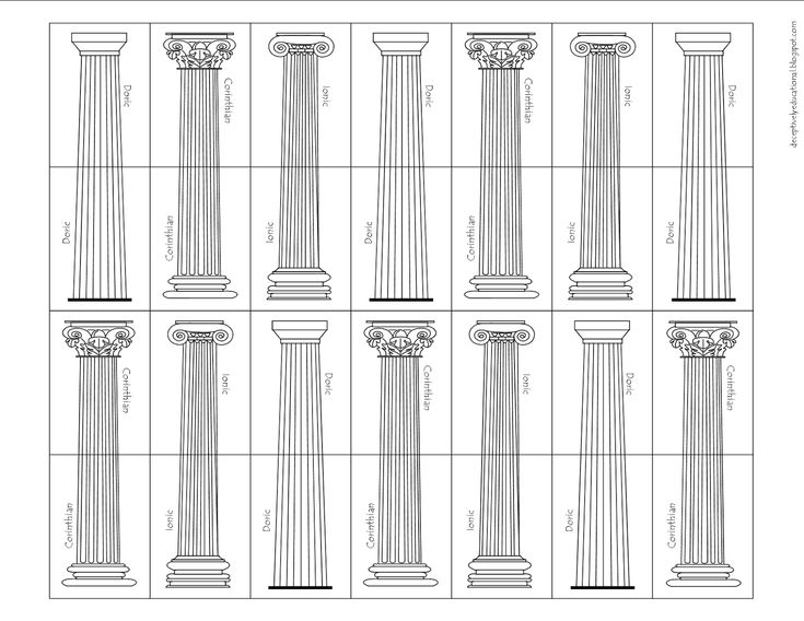 Relentlessly Fun, Deceptively Educational: Ancient Greek Temple Building Game (free printable)