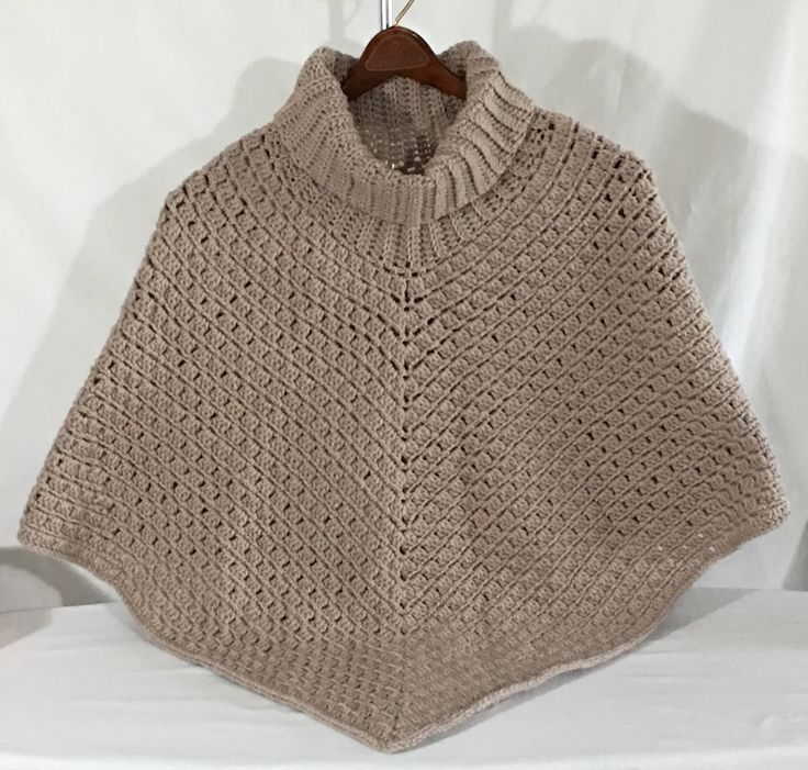 A personal favorite from my Etsy shop https://www.etsy.com/ca/listing/525174848/ladies-crochet-pull-over-cowl-poncho