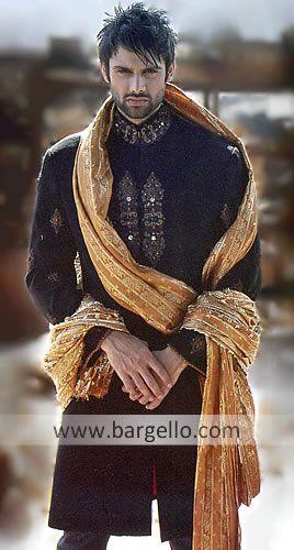 M342 Mens Sherwani manufacturers,exporters of Indian Pakistani Wedding Sherwani, Mens Sherwani suppliers, Dark Shades