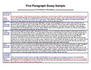 five paragraph essay sample the hazards of  five paragraph essay sample the hazards of moviegoingintroductoryparagraph i am a movie fanatic when friends want to know what picture won the osc