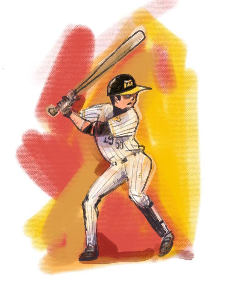 勝ったでー! #阪神タイガース#タイガース#プロ野球#batting#baseball#baseball#ホームラン#甲子園 #イラスト#digital#digitaldrawing #デジタル #portrait #ポートレート#iPadPro #Mac #portrait #painter #okayamatakatoshi #イラスト #illustration #drawing #art #絵 #おかやまたかとし