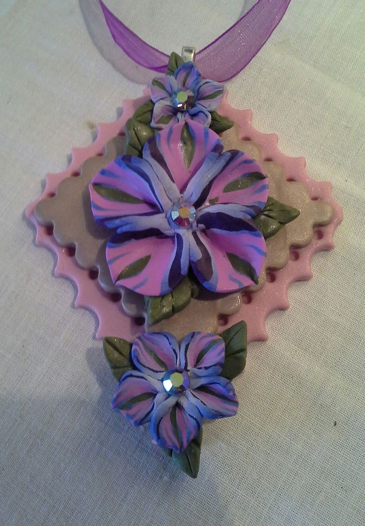 Pendant made from polymer clay