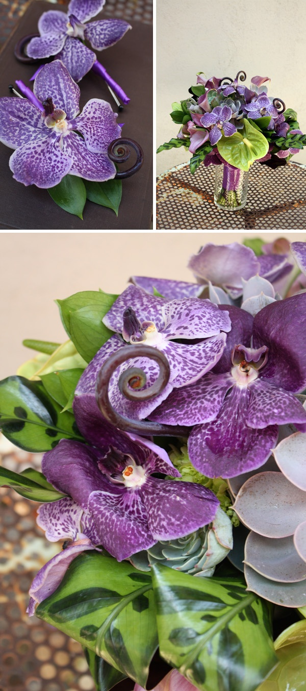 Mmm, love the bouquet. I thought I didn't like purple and green together...proves me wrong.
