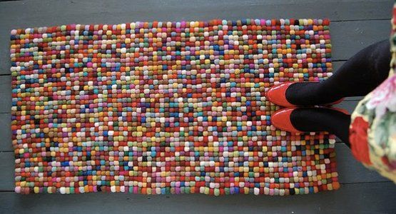 Made of felt balls. Sure to drive any crafter insane with compulsive desire!