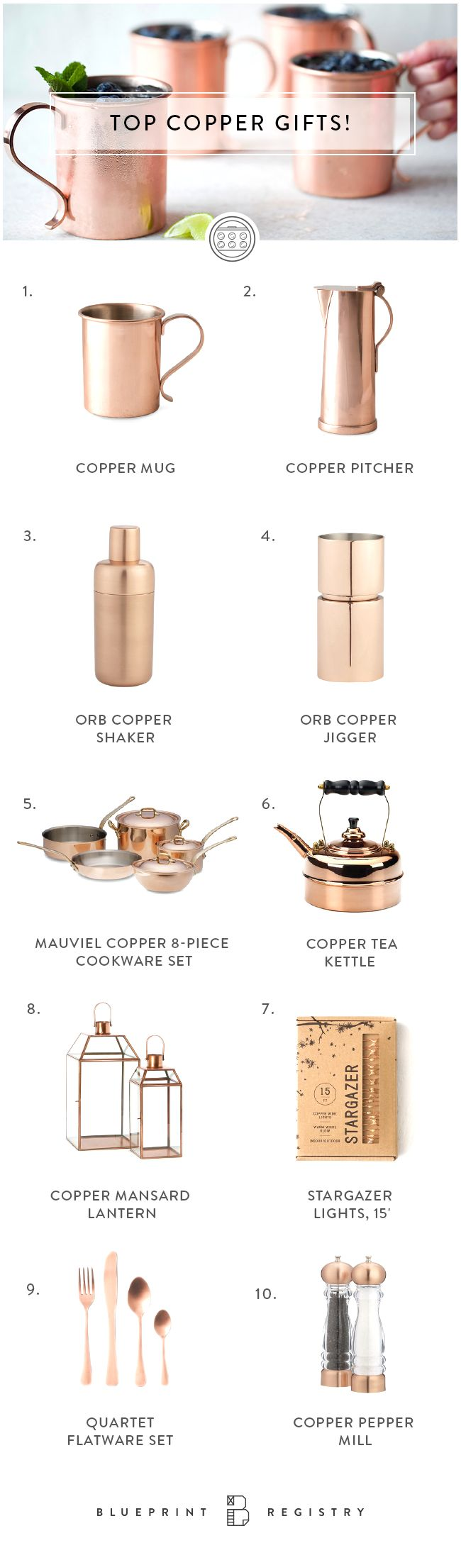 practical + beautiful copper accents
