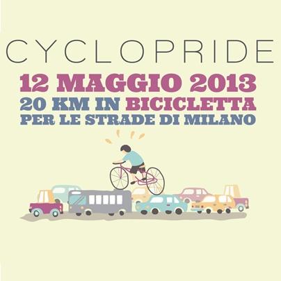 Domenica 12 maggio Milano e Napoli celebrano la Giornata mondiale della bici con il Cyclopride per promuovere l'uso della bicicletta.