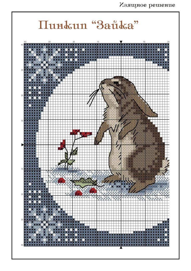 "Cross-stitch Little Bunny, part 1.. color chart on part 2...    Альбом """" в увеличенном режиме"