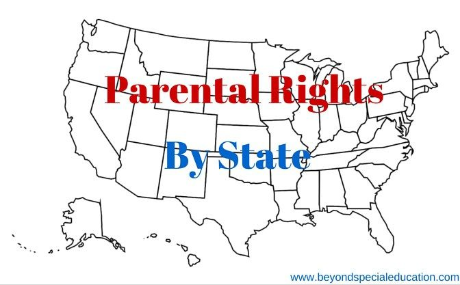 Do you know your parental rights? Check your state to find out!