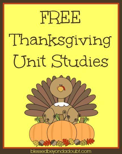 Free Thanksgiving Unit Studies & Lesson Plans