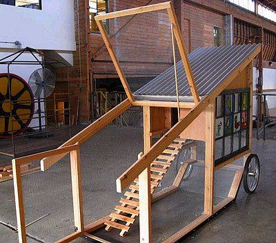 Chicken tractors tractors and coops on pinterest - Como hacer un gallinero ...