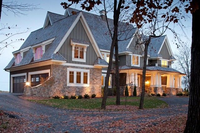 Love board and batten with stone home exteriors for Board and batten home plans