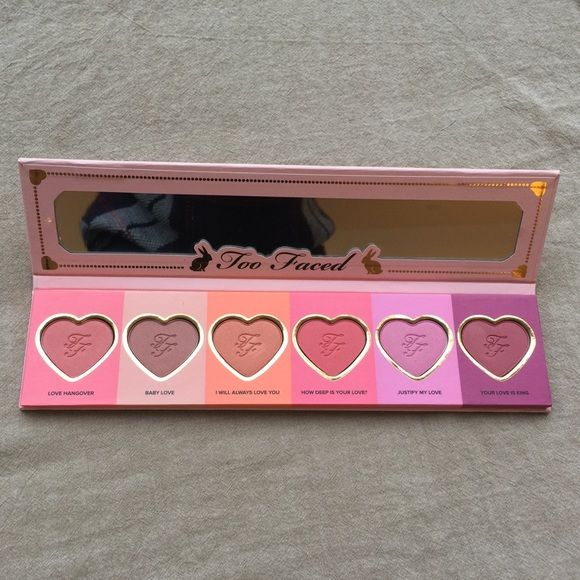 BRAND NEW Two Faced Love Flush Blush palette Brand new, never used beautiful blush palette by TWO FACED Two faced Makeup Blush