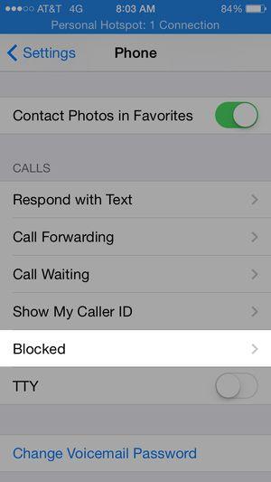 block calls on iphone -