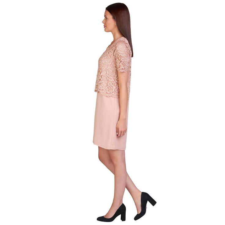Romantisch und Modebewusst, dafür stehen unsere wundervollen Kleider aus Italien! Dieses 2in1 Modell von Le Streghe garantiert einen femininen und stilvollen Auftritt zugleich. Das zweiteilige Kleid aus floral gemusterter Spitze im Oberteil hat einen Rundhalsausschnitt, einen verkürzten 1/2-Arm, sowie einen Knopfverschluss im Nacken. Das Kleid ist blickdicht gefüttert. Normale Passform, Länge ca. 90 cm, 100% Polyester, Made in Italy