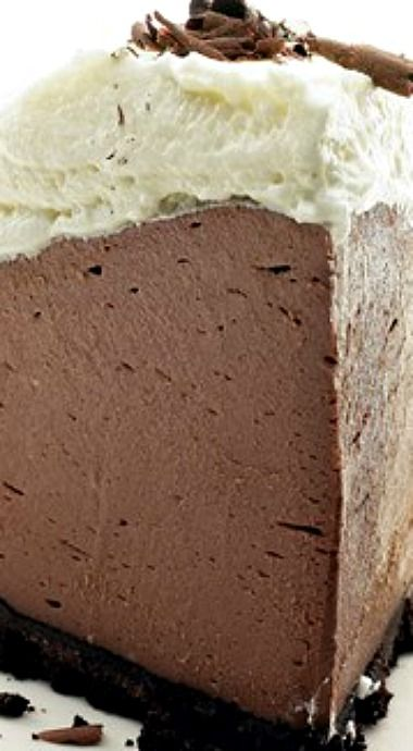 No Bake Chocolate Truffle Pie - 5 Ingredients