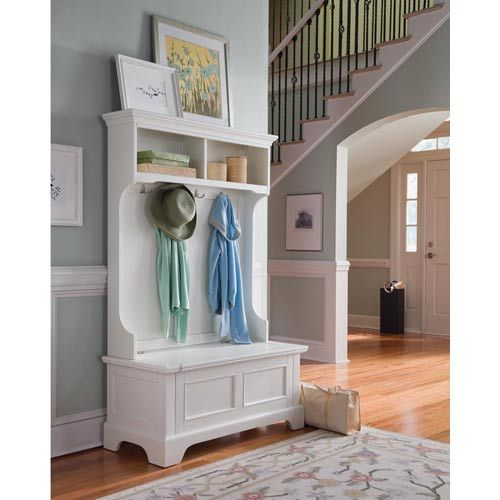 Naples White Hall Tree Home Improvement Home Styles Furniture Hall Trees Hall Trees Entryw