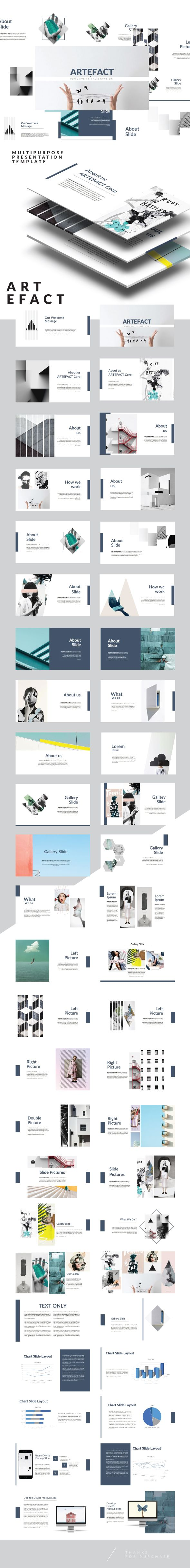 Artefact Multipurpose Powerpoint Template - Creative PowerPoint Templates