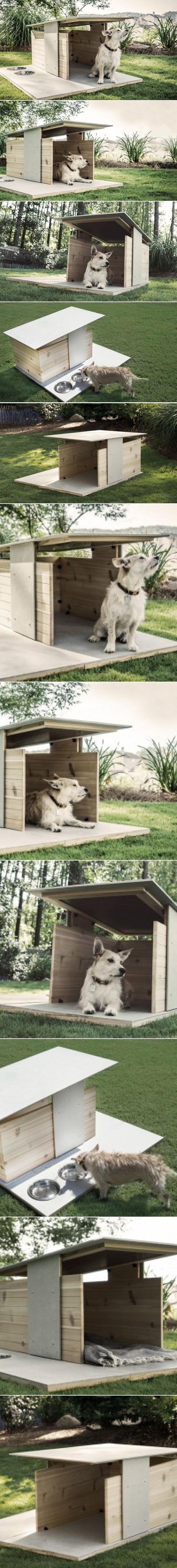 Two Atlanta-Based Designers Create An Architecturally Inspired Dog House | CONTEMPORIST