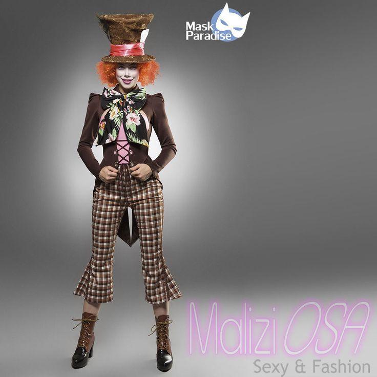 Costume Cappellaio Matto travestimento Carnevale cosplay Mad Hatter Alice 80107