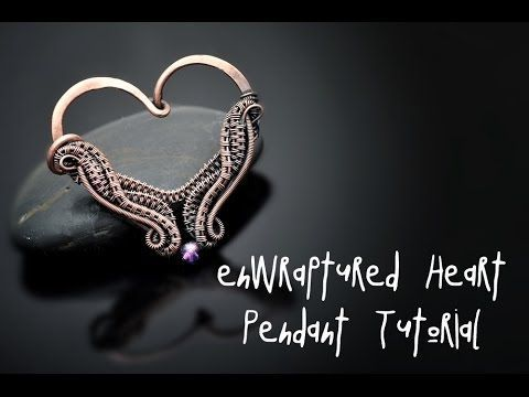 Heart pendant video tutorial by Nicole Hanna