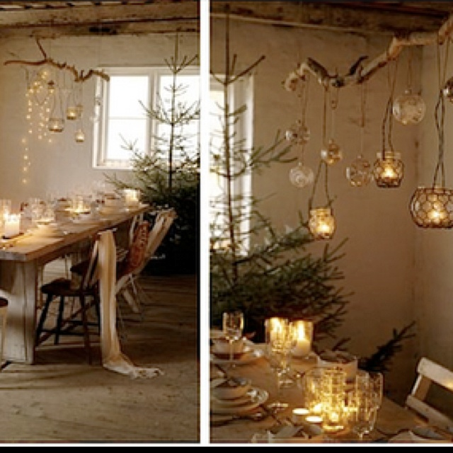 Love this DIY candle chandelier...