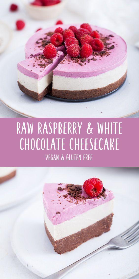 Raw Raspberry & White Chocolate Cheesecake