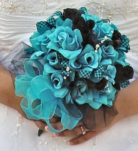 Turquoise Wedding Flower Arrangements Ideas