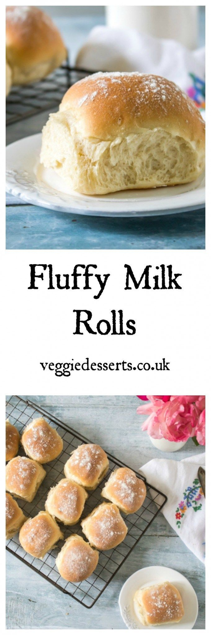 Fluffy Milk Rolls Recipe | Veggie Desserts Blog