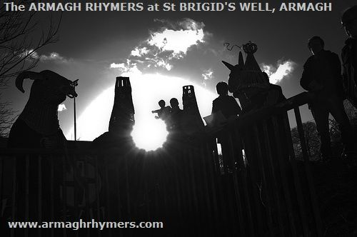 Buachailli Bhride ag Tobar Bhride, Ard Mhacha - Playing the role of Biddy Boys at St Brigids Well, Armagh