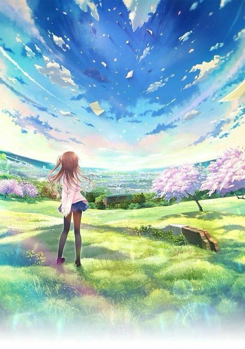 grafika anime, manga, and scenery