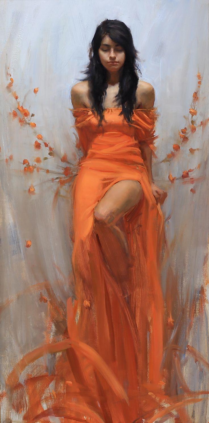 """June's Ascension"" - Timothy Rees {figurative art beautiful female standing woman digital painting}"