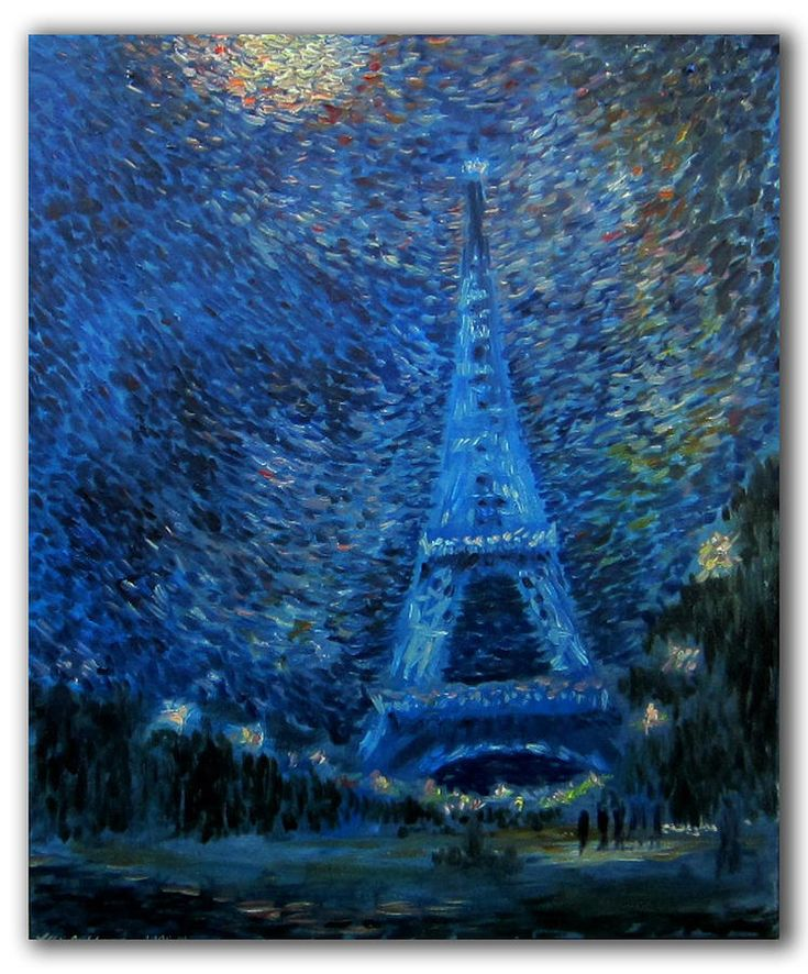 The Same Eiffel Tower Painting by Alexander Bukhanov