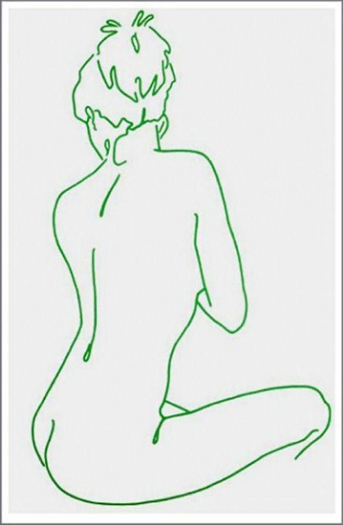 Lucie Bennet – Green Felt Tip Girl – Screen Print – Cool Print