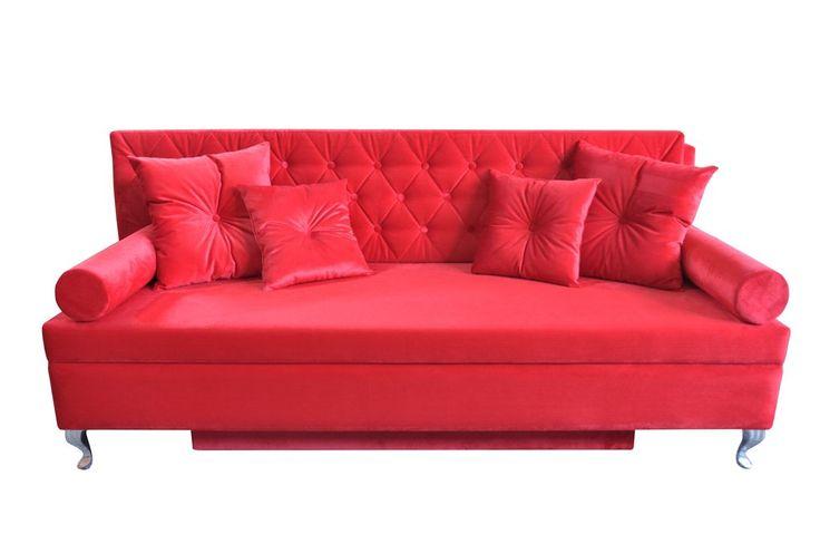 Sofa baroque red en