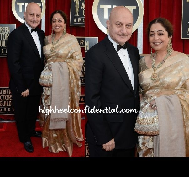 Kirron Kher with husband Anupam Kher at the Screen Actors Guild Awards.