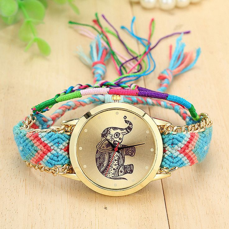 Cloth cool bracelet elephant party teen watch