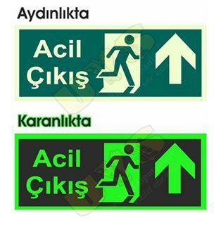 Acil Çıkış Levhası Fotolümenli Yukarı Ok http://www.uysisguvenligi.com.tr/acil-cikis-levhalari-bursa