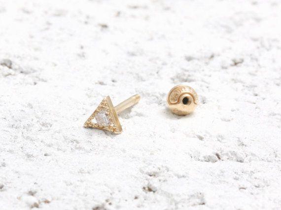 003 ct diamant naturel minuscule Triangle or par MELLOWJDesign