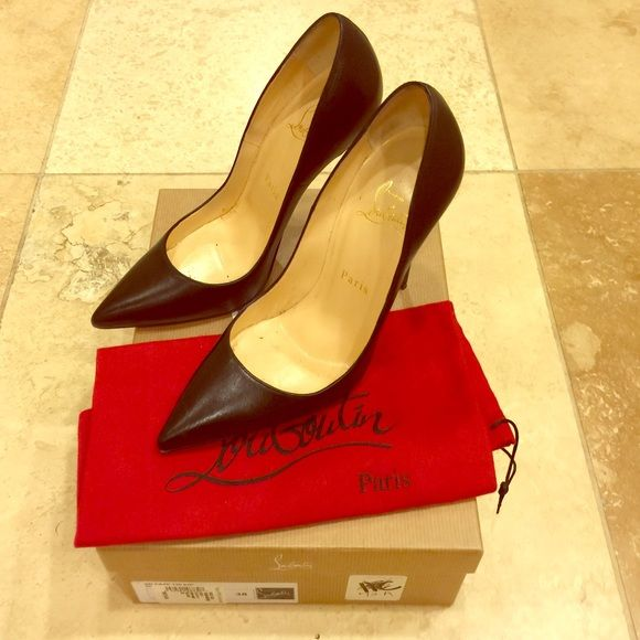 Authentic Christian Louboutin pumps Authentic Christian Louboutin pumps. These were worn once for an event. Comes with box and shoe bag.  No trades please. Christian Louboutin Shoes Heels