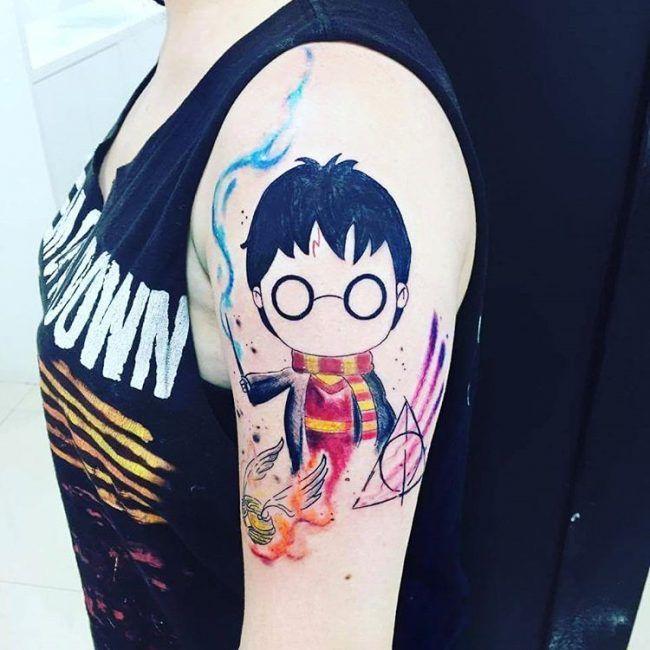105+ Fantastische Harry Potter Tattoo Designs & Bedeutungen – speziell für Fans (2018