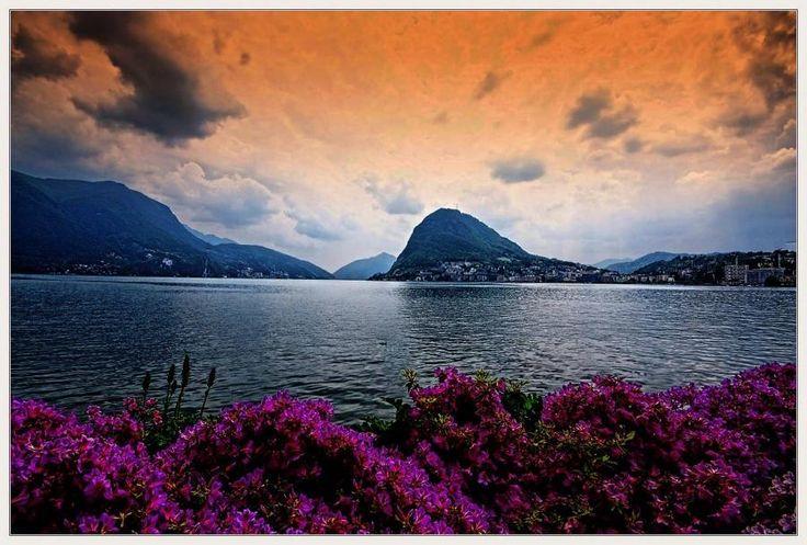 Sunrise on Lake Lugano - Switzerland -Dreams Vacations, Celestial, Lugano Switzerland, Fabulous Pictures, Sarah Boards, Lakes Lugano, Favorite Photos, Awesome Photos, Around