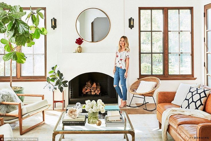 TV free: The clothes designer, who has her own range at Kohl's, created her living room to...