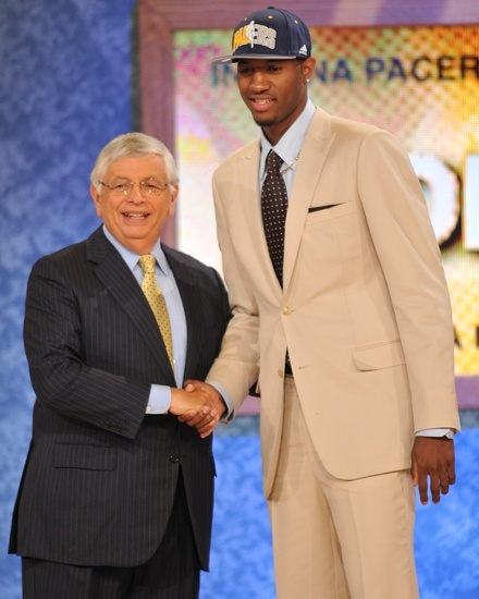 With the 10th pick in the 2010 NBA Draft, the Pacers selected Paul George, out of Fresno State.