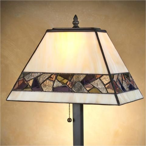 Modern Styled Stained Glass Table Lamp 663 By J Devlin