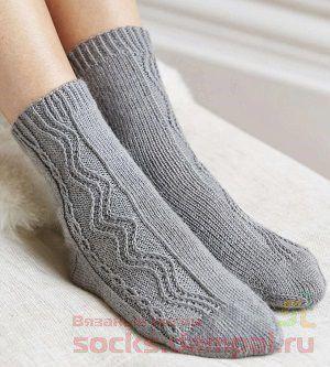Серые носочки «Garden Path» (Вязание спицами)