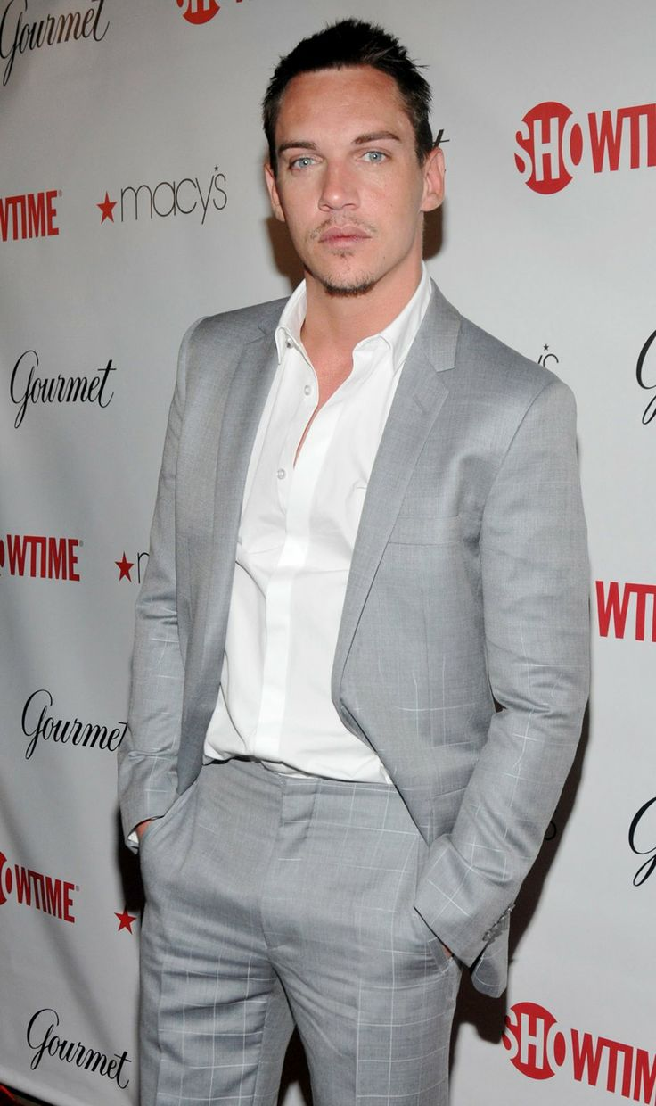 Jonathan Rhys Meyers grey suit white shirt | clothes | Pinterest ...