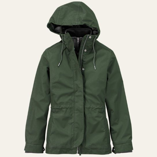Shop Timberland for the Mount Cabot women's waterproof coat. Stay dry and look good.