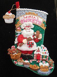 Santa's sweets felt stocking